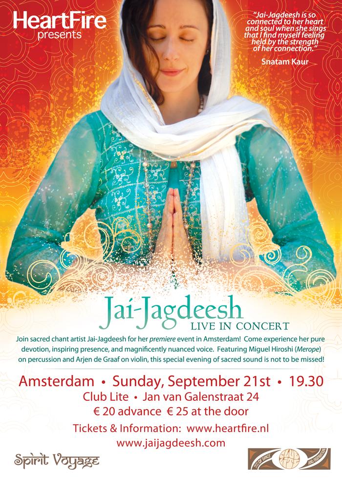 Jai Jagdeesh Concert Amsterdam Heartfire 21 september 2014