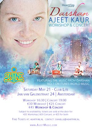 2016 Ajeet Kaur Darshan HeartFire Amsterdam Concert Poster 20160521