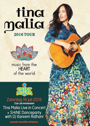 SHiNE Amsterdam Live Concert Tina Malia SHiNE Danceparty Kareem Raihani HeartFire July 16 2016
