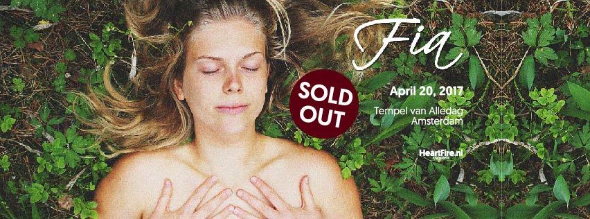 Fia Live in Concert April 20th 2017 Tempel van Alledag Amsterdam HeartFire SoldOut