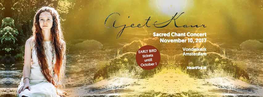 2017 Ajeet Kaur Sacred Chant Concert November 10 Vondelkerk HeartFire