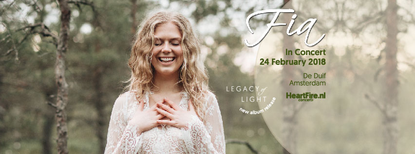Fia Legacy of Light In Concert 24 February 2018 De Duif Amsterdam HeartFire.nl