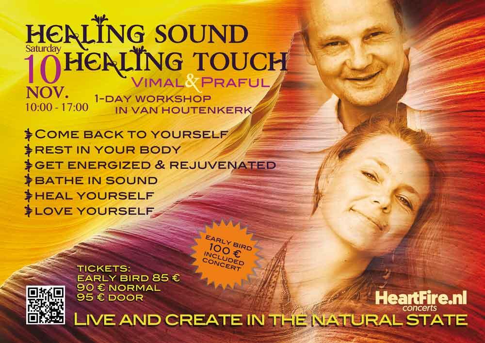 Praful Vimal Healing Sound Healing Touch Van Houtenkerk Weesp 10 november 2018 HeartFire.nl