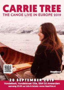 Carrie Tree in Concert The Canoe Live in Amsterdam September 20, 2019 HeartFire.nl
