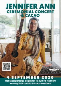 Jennifer Ann Ceremonial Concert Cacao Stadsparadijs 4 september 2020 HeartFire.nl